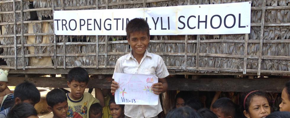 Premier projet d'Un village, Une école par Lyli Association, l'école de Tropeng Tim verra bientôt le jour.